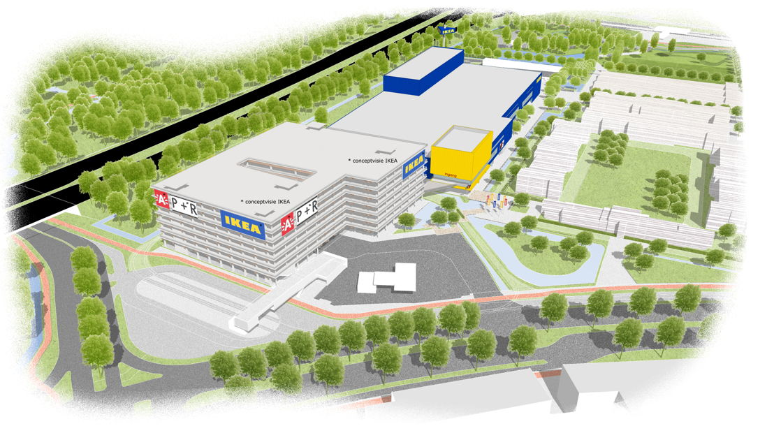 Ebauche de la nouvelle implantation de IKEA sur le site Havana – Aperçu