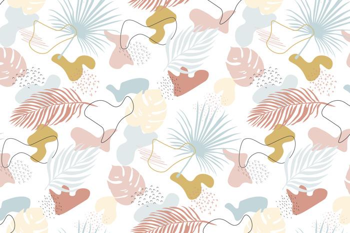 La mer chez vous avec la collection de papiers peints Collage Tropical