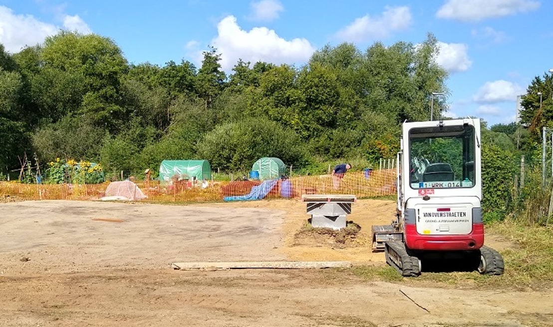 VLM bouwt samentuinhuis voor volktuinen in Zellik