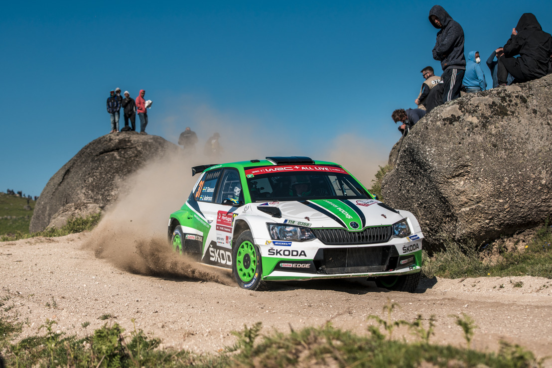 Rally Portugal: ŠKODA's Tidemand storms into lead of WRC 2 – teammate Nordgren up to sixth