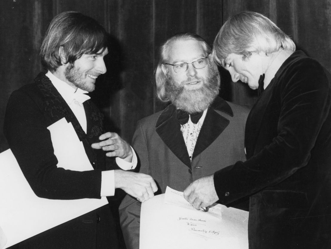 Directors Peter Weir and Graham Shirley with David Stratton (centre).