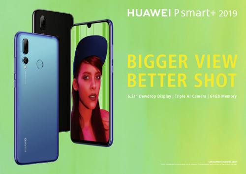 Huawei lanceert P smart+ 2019: betaalbare smartphone met drievoudige AI-camera