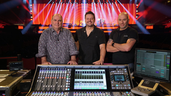 Three for the Road: Céline Dion's Courage World Tour features three Solid State Logic Live L550 Digital Mixing Consoles