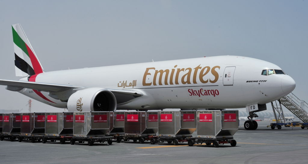 """Emirates SkyCargo is the recipient of Payload Asia's """"Overall Carrier of the Year"""" award, thanks in part to an efficient and modern freighter fleet."""