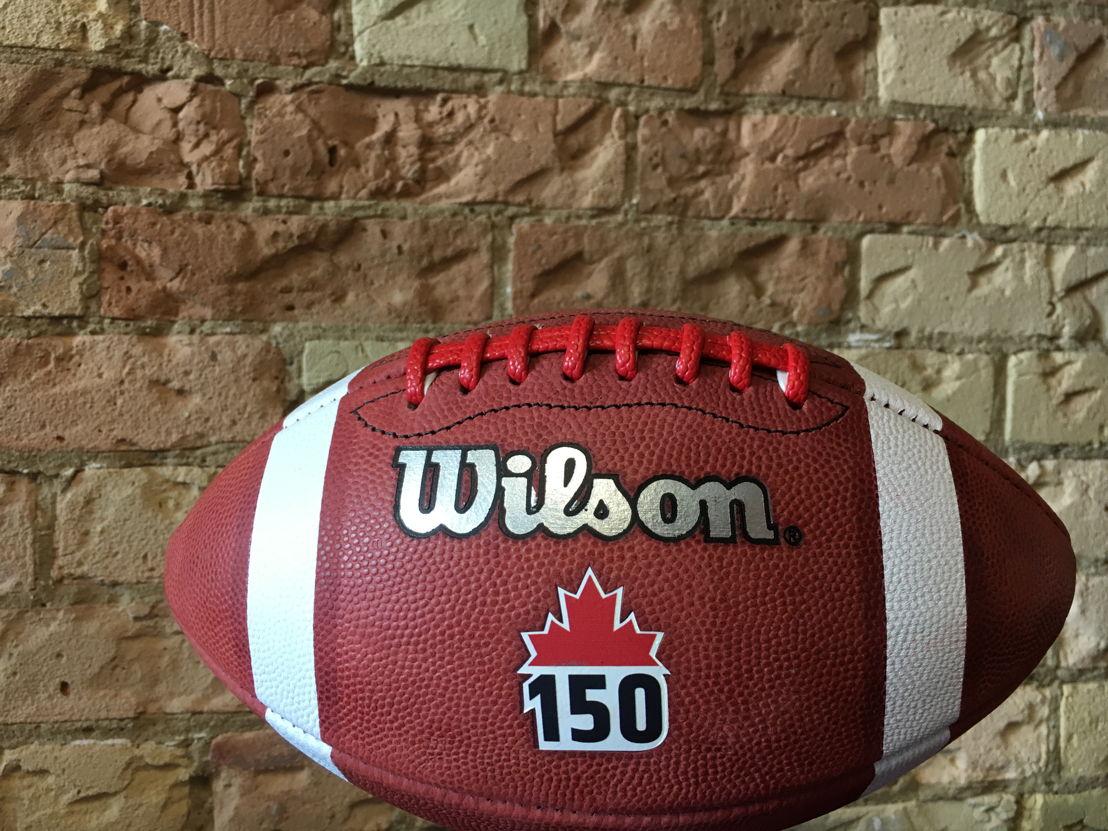 Le ballon #Canada150 conçu spécialement pour les matchs de la semaine 2 de la LCF.