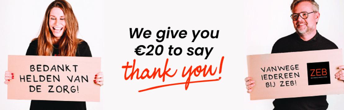 Persbericht: Belgische retailer ZEB schenkt vier miljoen euro waardebonnen aan de helden van de zorg