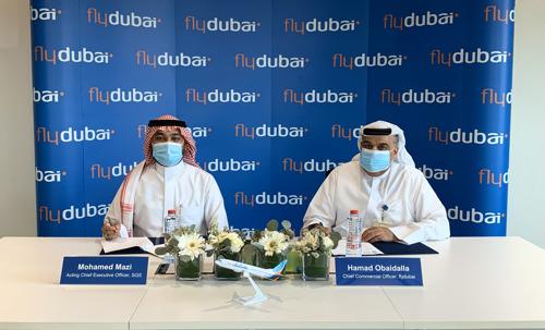 فلاي دبي و السعودية للخدمات الأرضية توقعان اتفاقية لخدمات المناولة