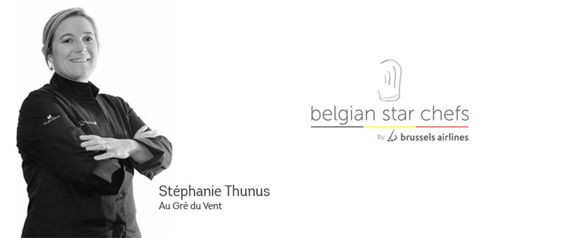 Lady chef Stéphanie Thunus en Brussels Airlines creëren gastronomische ervaring op 10km hoogte
