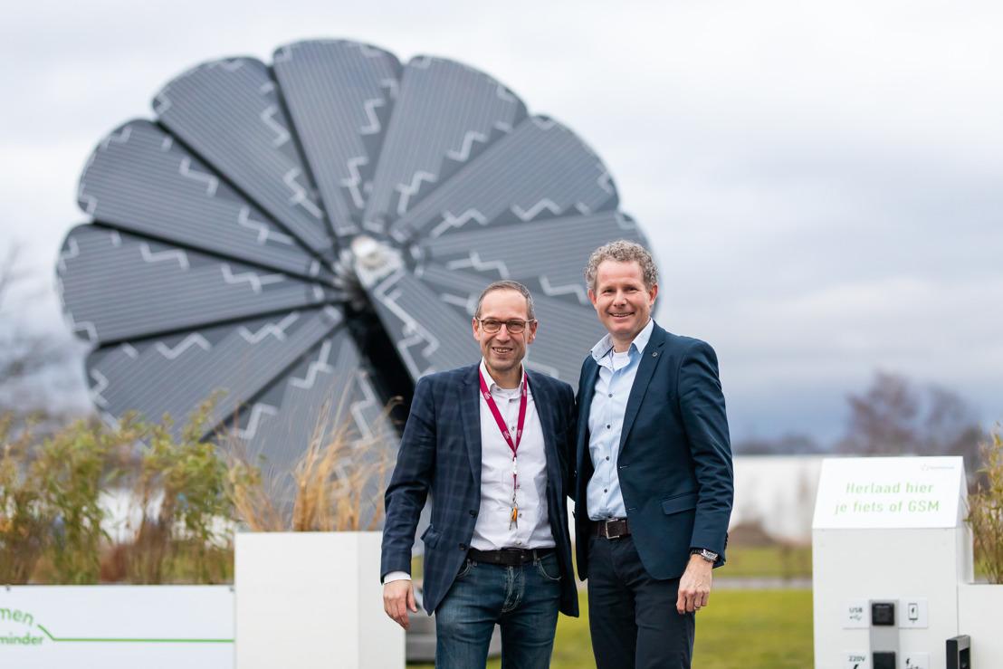 Ecologische bloem zorgt voor 4000 kWh groene energie op technologiecampus