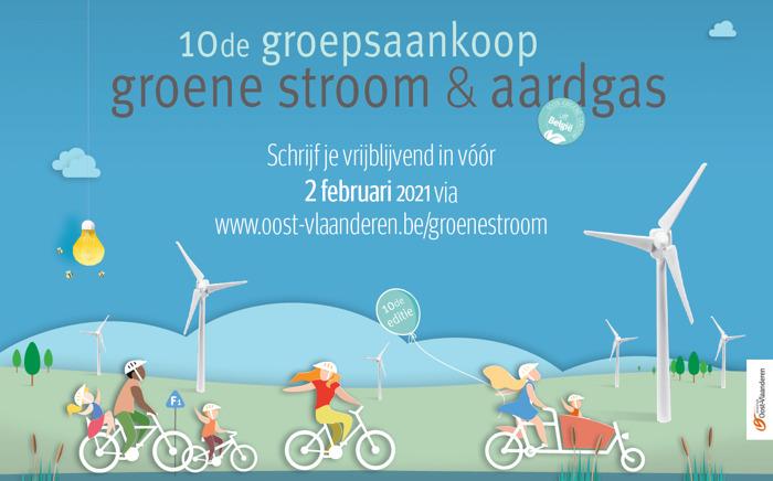 Kans op één jaar gratis groene stroom bij tiende groepsaankoop energie Provincie Oost-Vlaanderen