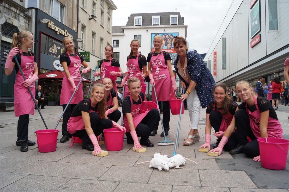 GAIA op tournee met Loes Van den Heuvel tegen dierenleed in het labo