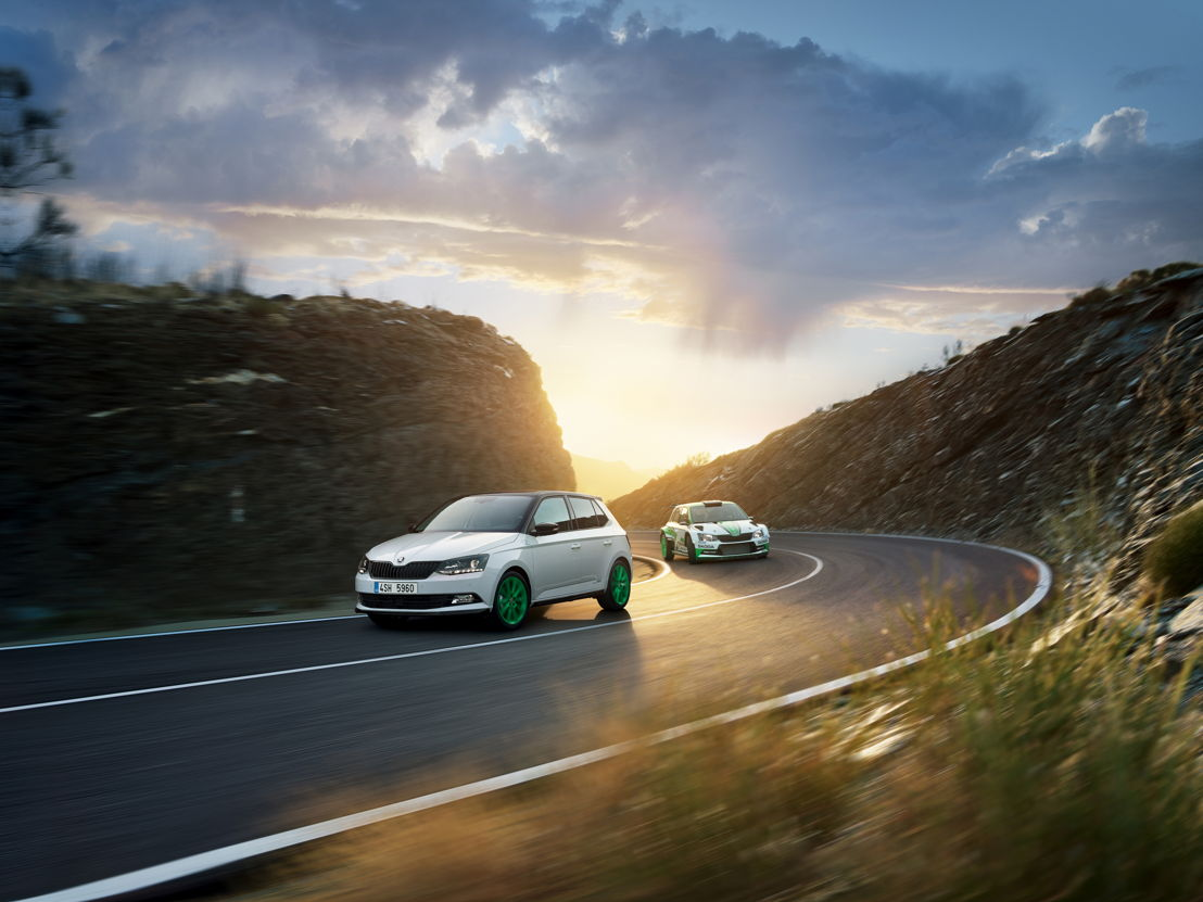 ŠKODA celebrates the FIA WRC 2 title with a limited edition of ŠKODA FABIA equipped with a 1.4 TSI engine delivering 92 kW/125 hp.