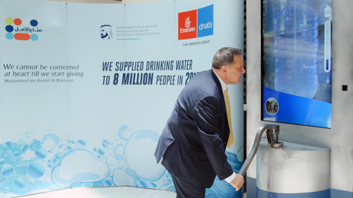 The Emirates Group participates in the 'Well of Hope' humanitarian competition