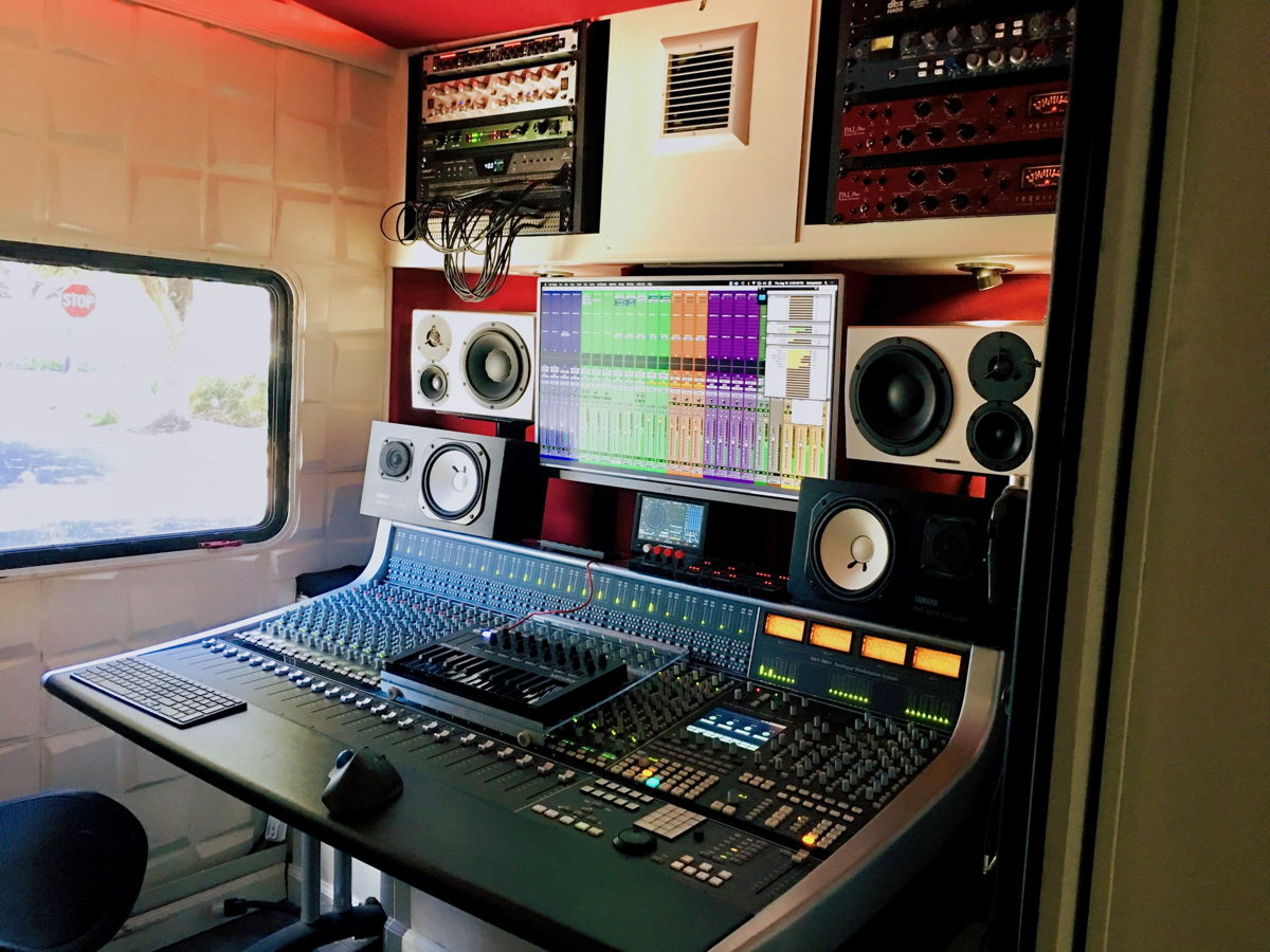Interior of Mobile Sessions Studio