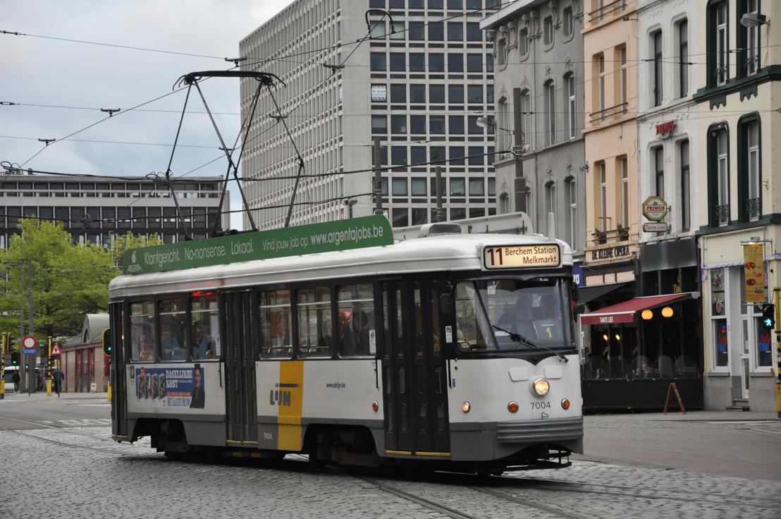 Geen trams 11 en 24 naar Melkmarkt tijdens weekend 10-11 augustus