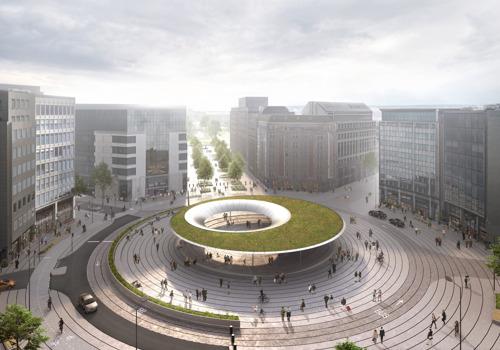 Van rondpunt naar stedelijk plein op Schuman