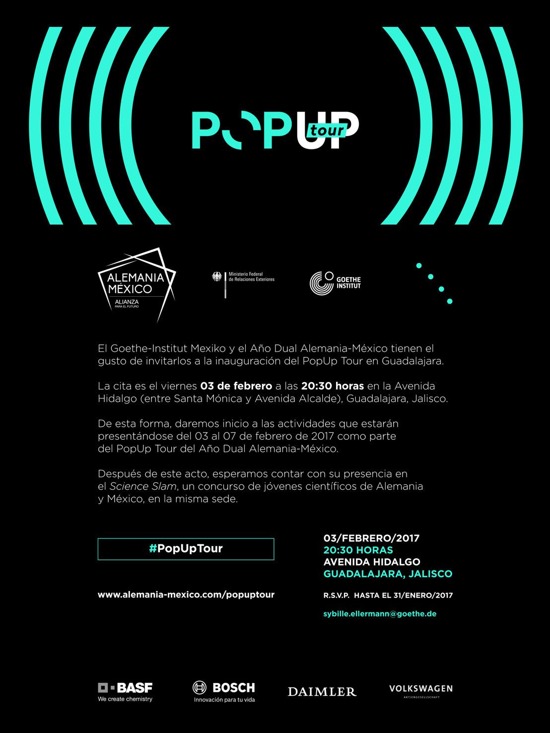 Invitación: Inauguración PopUp Tour Guadalajara