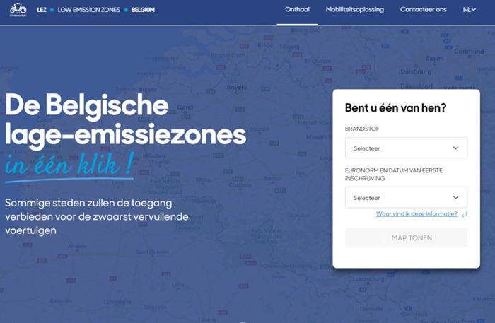 Informatie over lage-emissiezones (LEZ) op de D'Ieteren Auto de website lez.dieteren.be