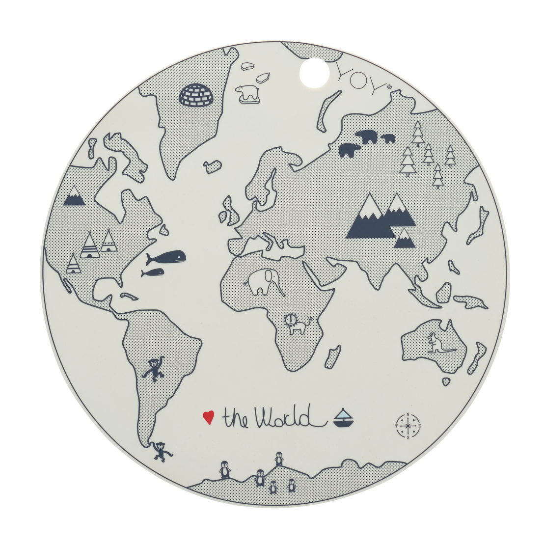 OYOY Placemat - The world-€14