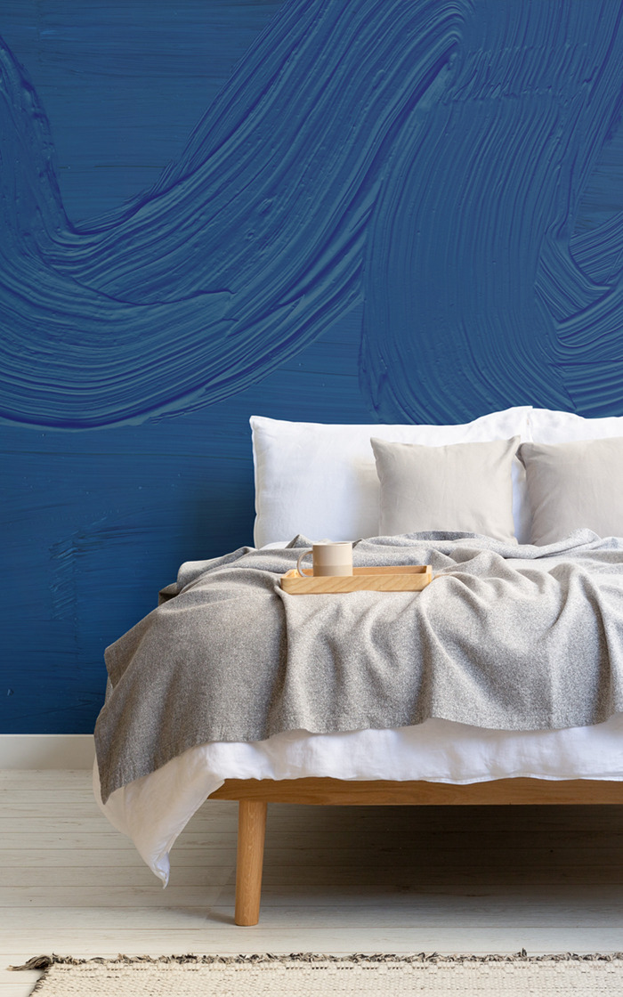Classic Blue wall mural released for Pantone Color of the Year 2020