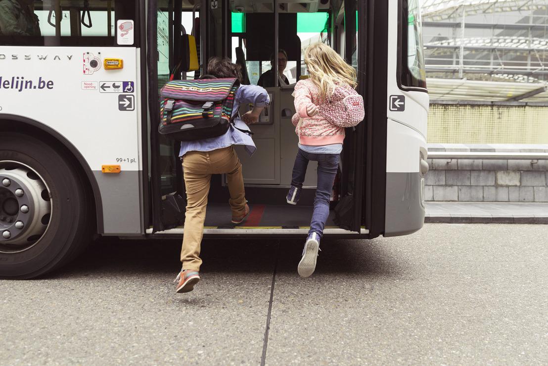 Terug naar school: 1 maand gratis bus en tram voor wie start in het 1e middelbaar