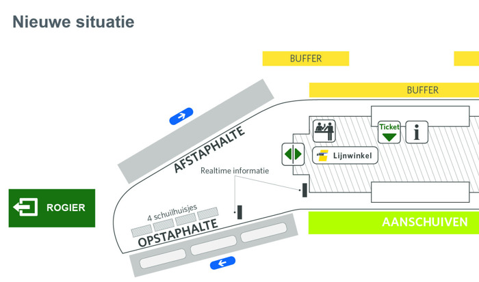 Preview: Groen licht voor verbeteringen aan busstation Brussel Noord