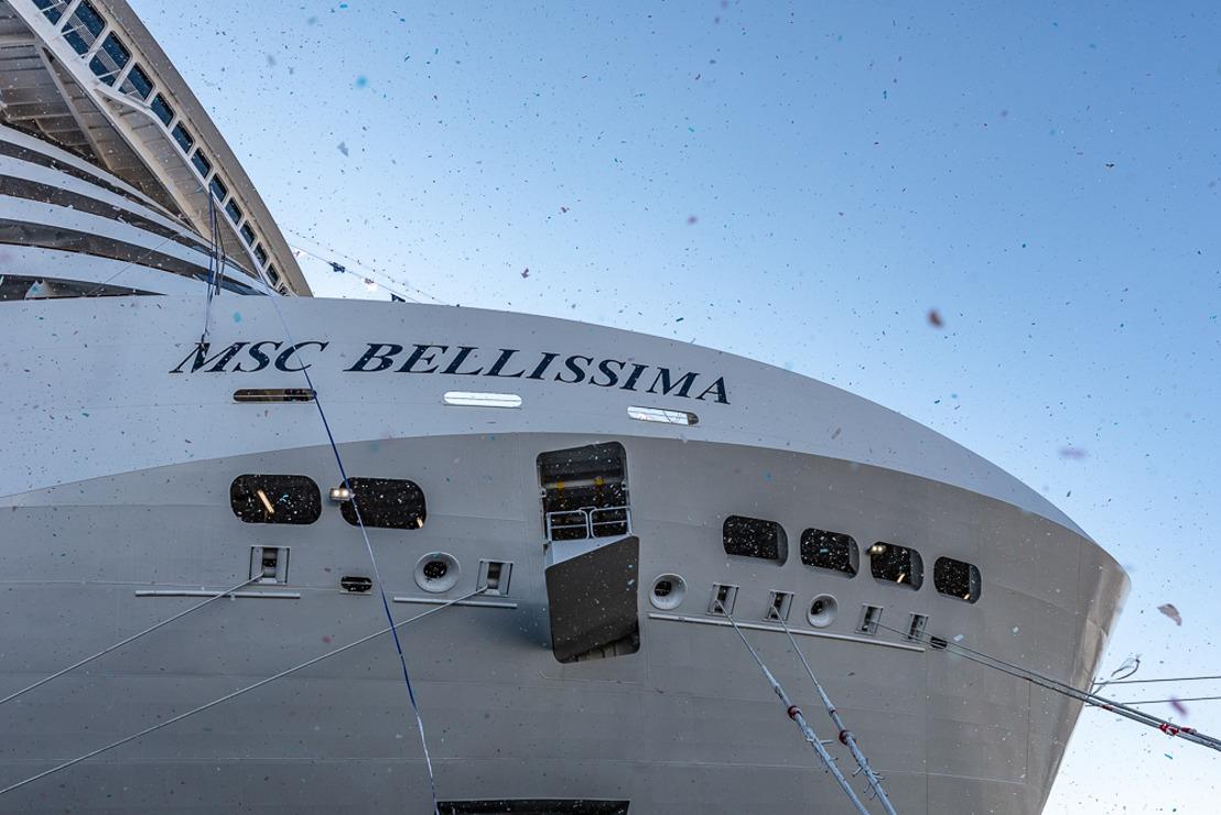 LE MSC BELLISSIMA BAPTISE À SOUTHAMPTON