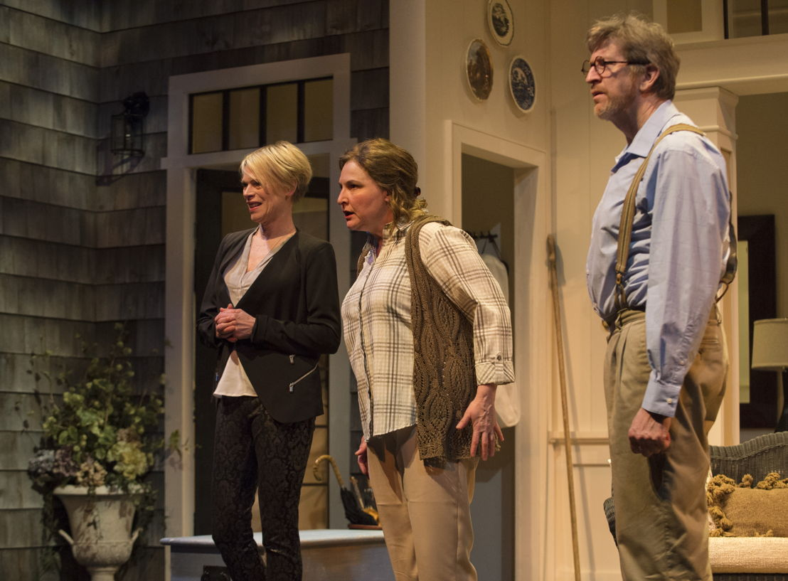 Brenda Robins, Deborah Williams and R.H. Thomson in Vanya and Sonia and Masha and Spike by Christopher Durang / Photos by David Cooper