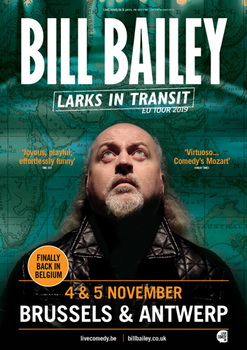 Bill Bailey finally back in Belgium