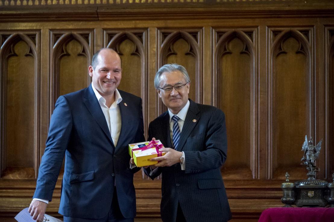 ©Wim Vanmaele -Philippe Close, Schepen voor Toerisme & Masafumi Ishii, Ambassadeur van Japan in België