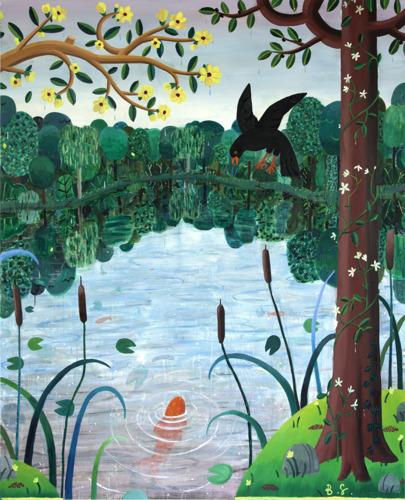 Heroïsche ridders, kleurrijke bossen en exotische dieren: de tweede solotentoonstelling van Ben Sledsens bij Tim Van Laere Gallery neemt ons mee naar een utopische, betoverende wereld