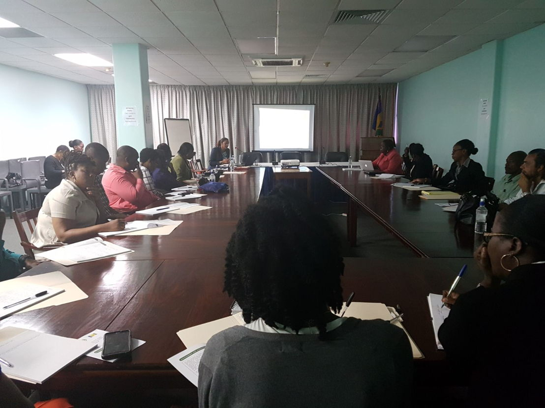 Workshop conducted for the National Assessment Team (NAT) of the Government of St. Vincent and the Grenadines