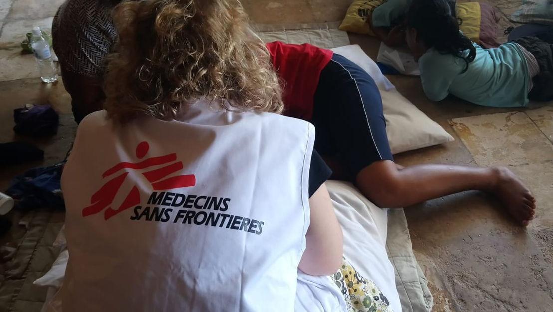A patient is attended by MSF's mental health team in Nauru, October 2018. Credit MSF