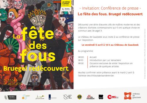Invitation: Conférence de presse - 05.04.2019