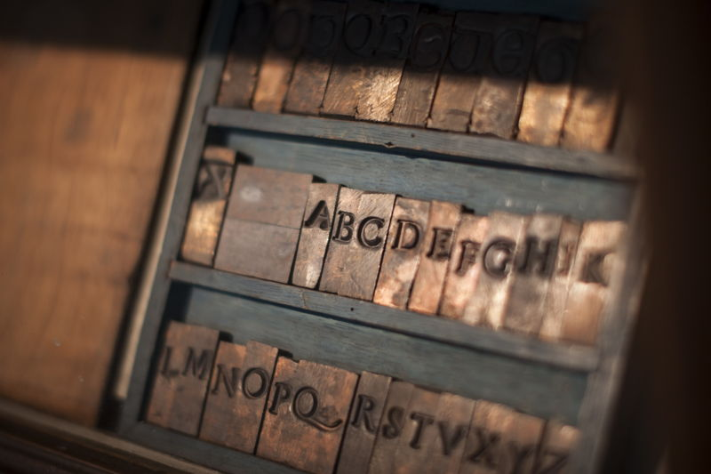 Museum Plantin-Moretus, typography collection, photo: Ans Brys