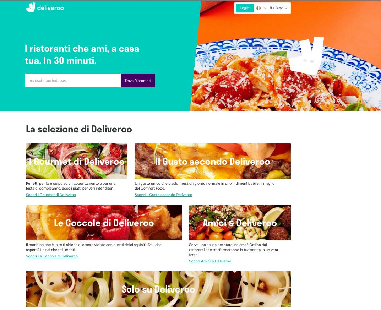 Deliveroo website