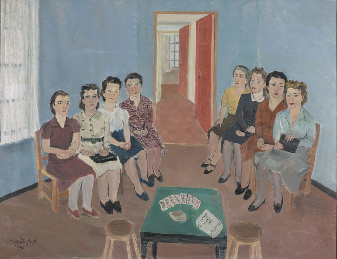 Edgard Tytgat, Eight women, 1940 ©Collectie Gemeentemuseum Den Haag<br/>(c) SABAM Belgium 2017