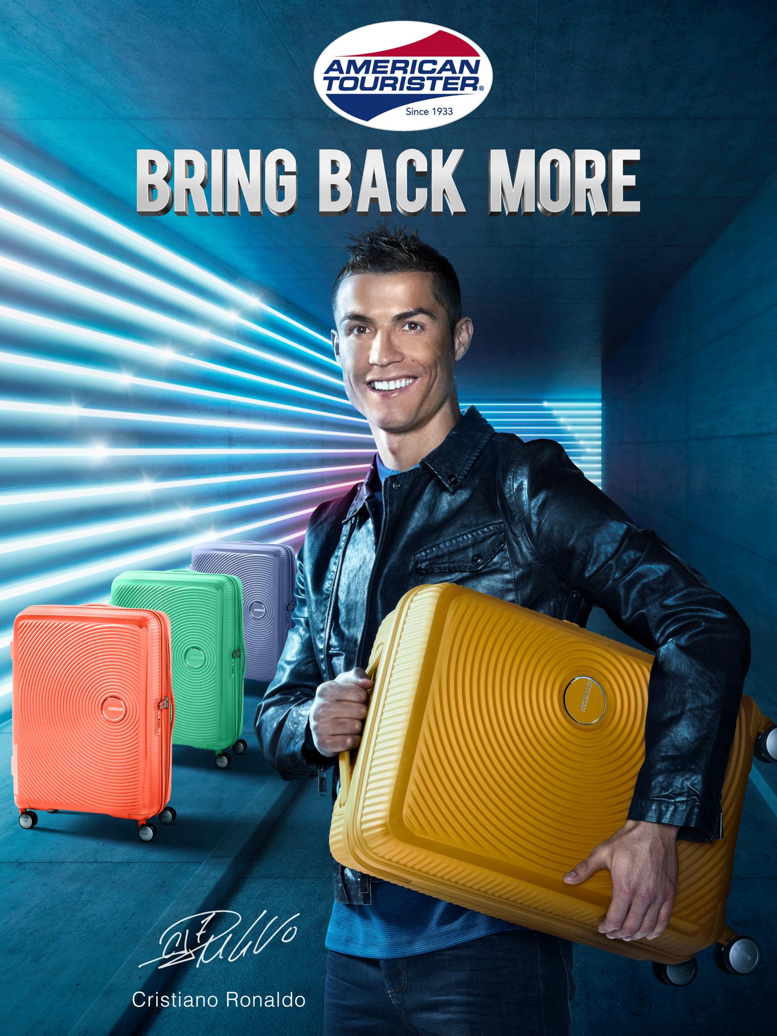 fe309a4afe 'Bring Back More' : Cristiano Ronaldo est le nouvel ambassadeur de la  marque American Tourister