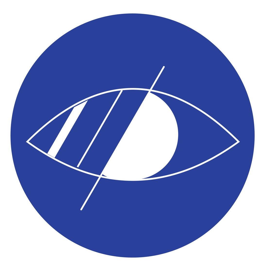 Icoon: deze halte is toegankelijk voor mensen met een visuele beperking. De halte is uitgerust met een opstelvlak in rubbertegels en aansluitend een geleidelijn in ribbeltegels tot aan de natuurlijke geleiding.