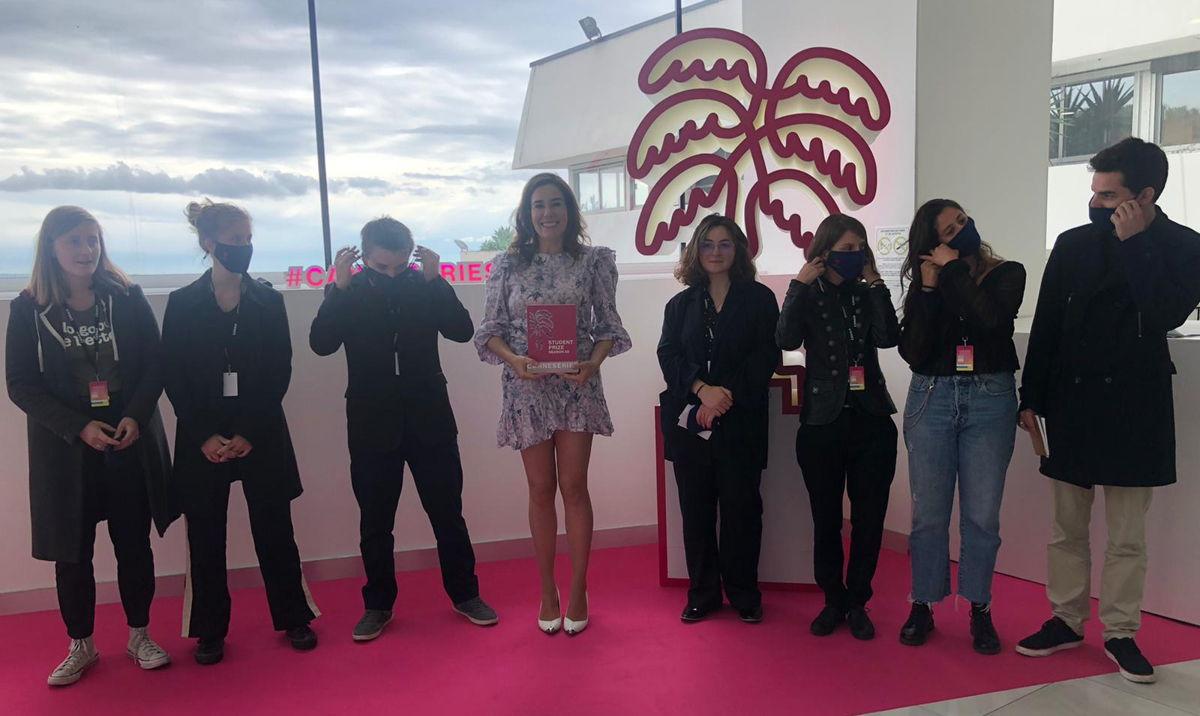 Halina Reijn met de Student Jury in Cannes