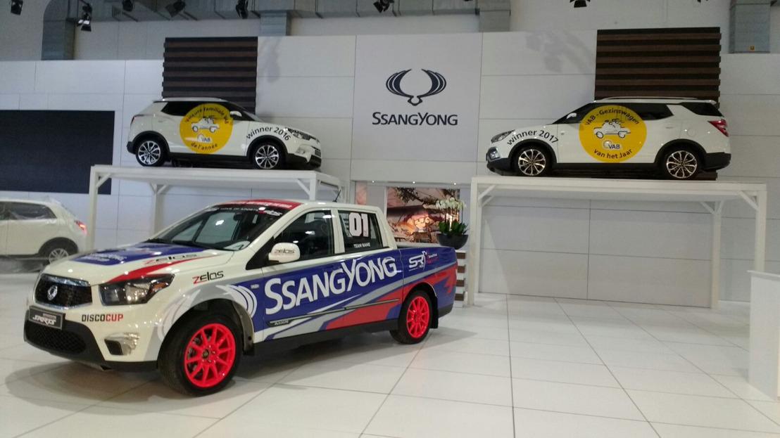 SsangYong op het autosalon in Brussel.