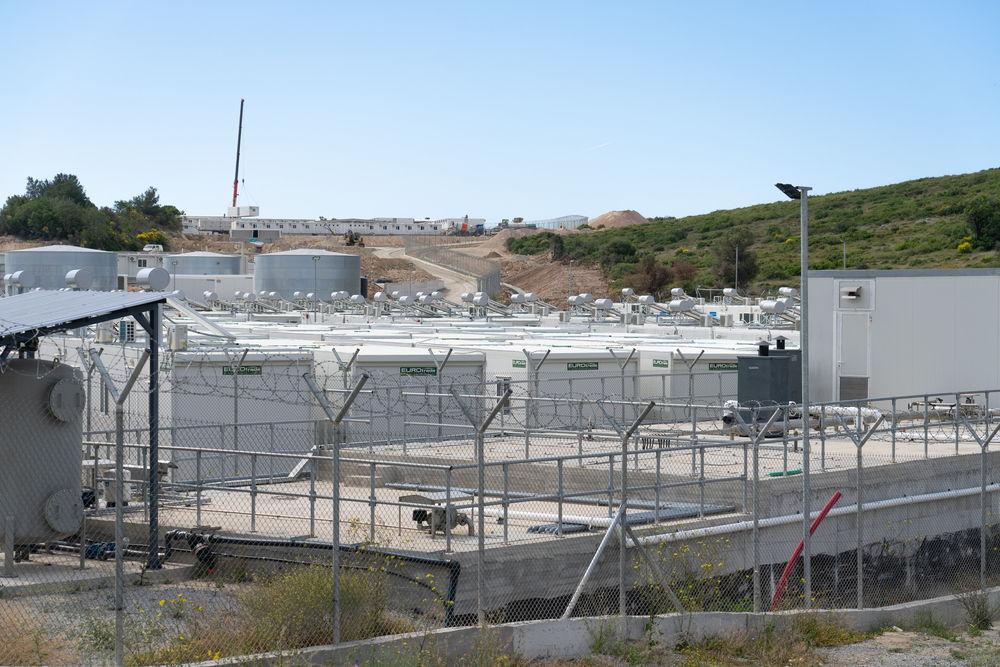 Imagen del nuevo campo en Samos, ubicado en un lugar aislado a 5 kilómetros de la localidad de Vathy. © Evgenia Chorou