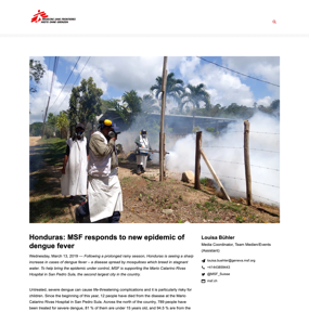 Honduras: MSF responds to new epidemic of dengue fever