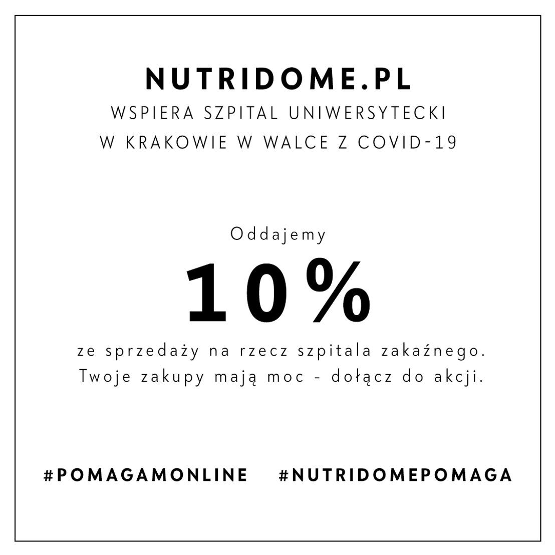 Sklep Nutridome.pl wspiera polską służbę zdrowia!