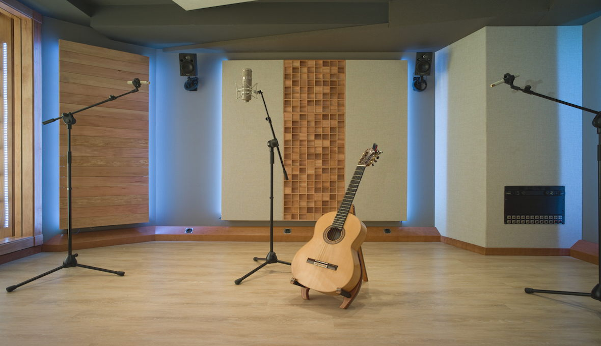 A private studio in Barcelona, Spain, where EZ Acoustics performed the acoustic treatment.
