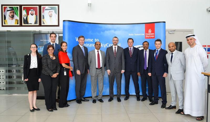 Australian Delegation visits Emirates SkyCargo's Cool Chain Facilities.
