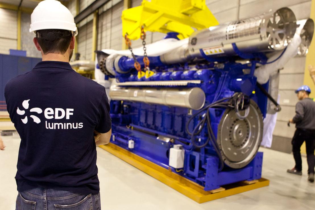 Nieuwe WKK-motor (WKK = warmtekrachtkoppeling).