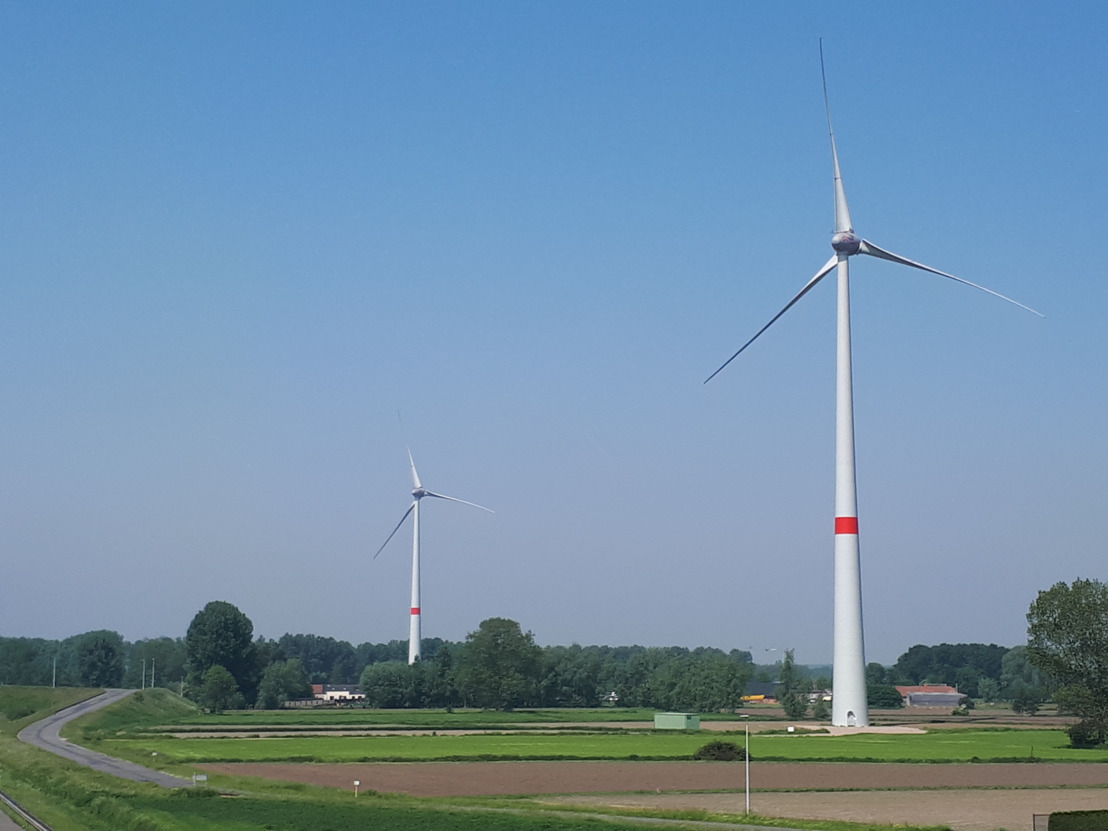 Groot buurtfeest aan de voet van de Luminus windturbines in Laarne en Lochristi
