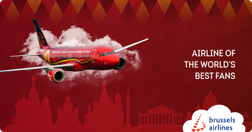 Brussels Airlines flies Red Devils and their fans to Russia
