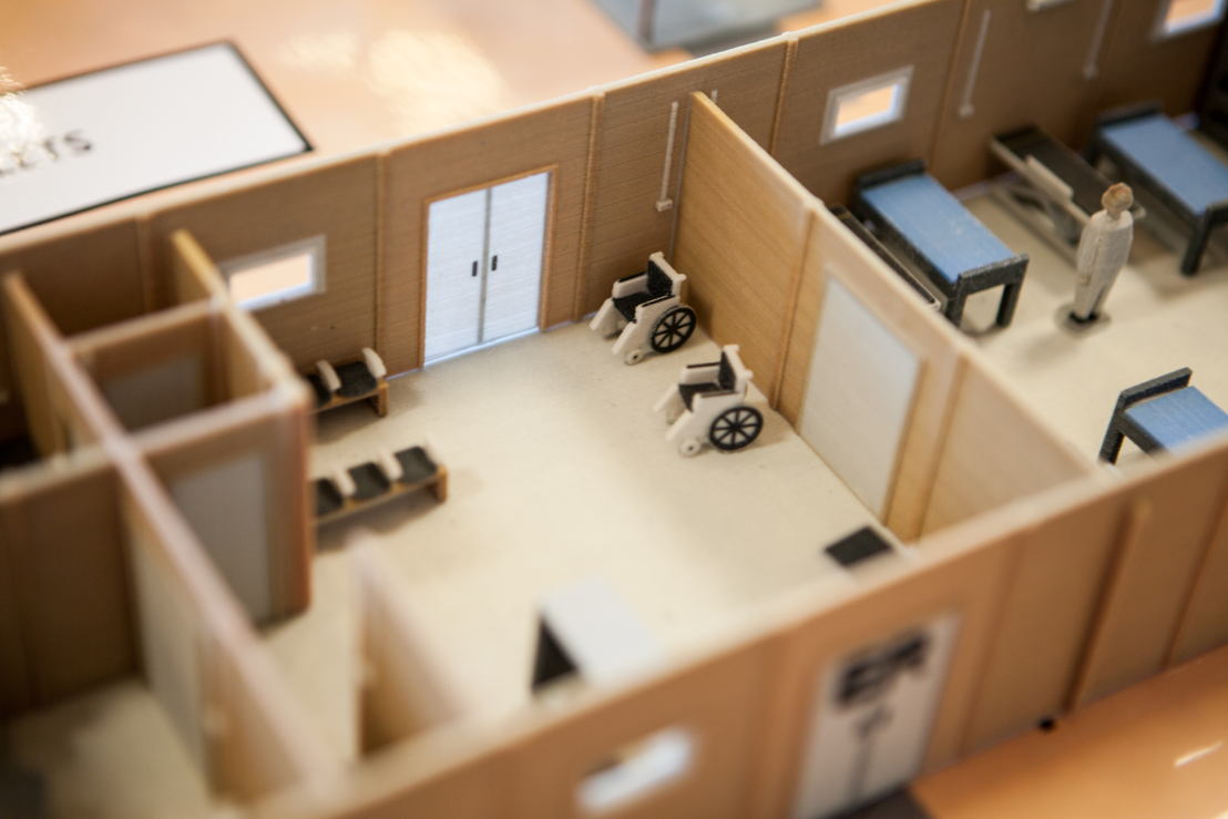 A waiting room at Cantahay hospital (Philippines) printed in 3D. © Alex Yallop/MSF
